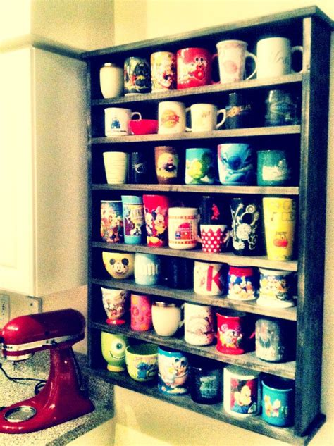 Shelf Mug Rack by Wood Mug Display Shelf Think Warm Thoughts
