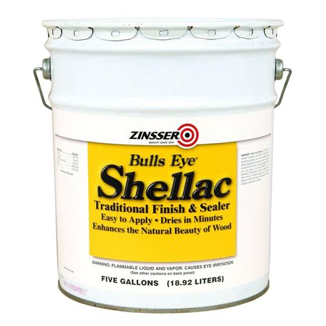 zinsser 5 gal amber shellac traditional finish and sealer 700 the home depot