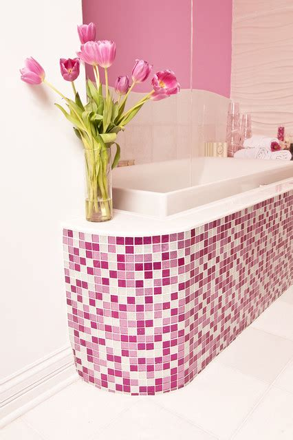 Pink Glitter Bathroom Accessories Pink Glitter Bathroom Contemporary Bathroom Other Metro By Susan Jablon Mosaics