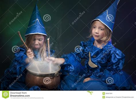 two little witches a two little halloween witches stock image image 26567941