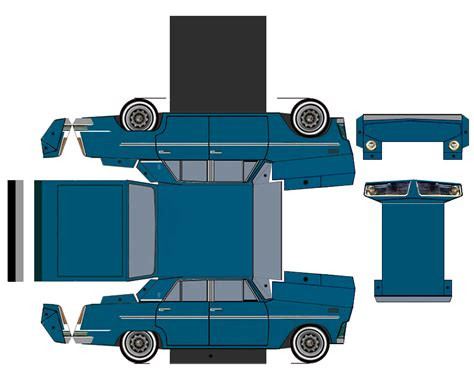Papercraft Cars - fiat 126 car paper craft fiat 126