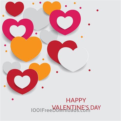s day free novamov いろんなハートを並べたリアルで可愛いバレンタインデーのイラストテンプレート