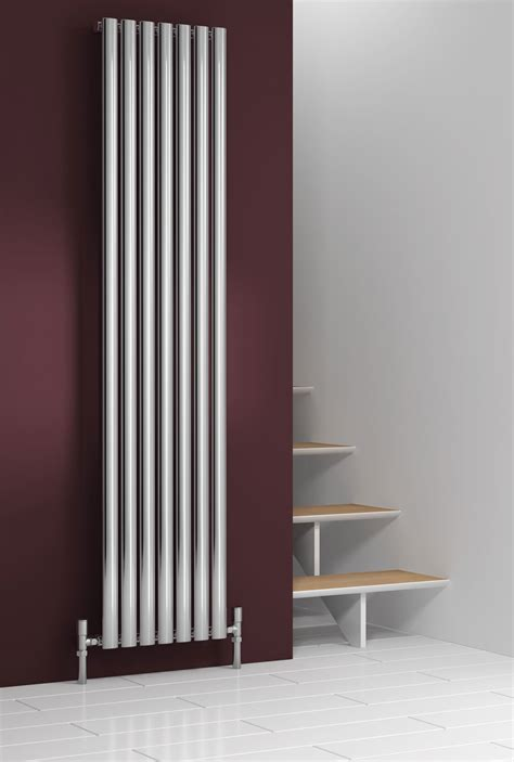 stainless steel radiators elevato vertical brushed reina nerox designer radiator polished or brushed