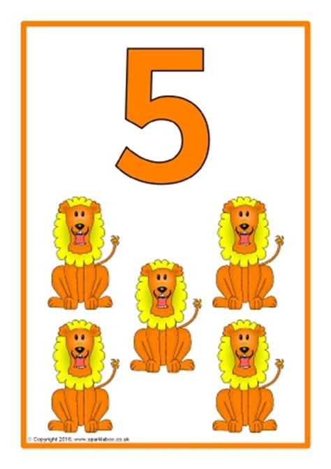 printable numbers with animals printable number posters and friezes for primary school
