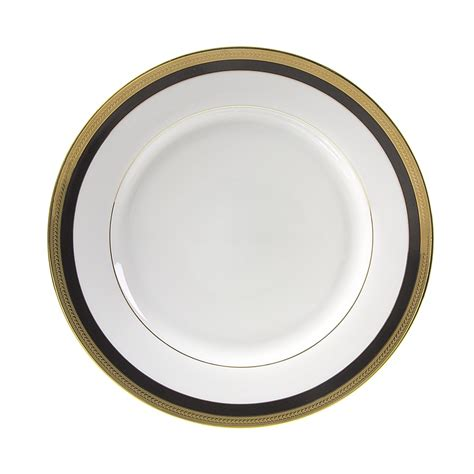 rent a china dinner plate with black gold rim