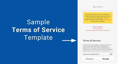 sle terms of service template termsfeed