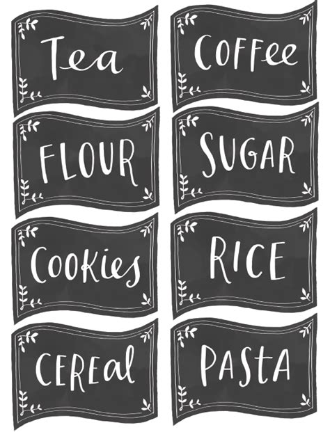 Pantry Labels Template by Free Pantry Labels Fab N Free
