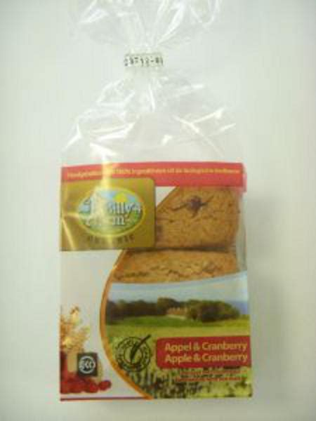 Dihani Snack Vegan Handmade Biscuits organic cranberry and apple cookie spelt in 175g pack from