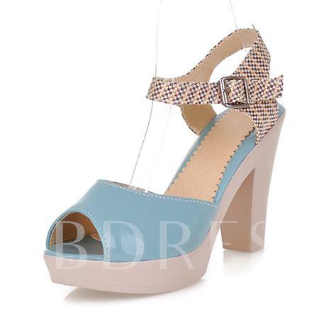 Chunky Heel Peep Toe Sandals chunky heel peep toe platform ankle s sandals