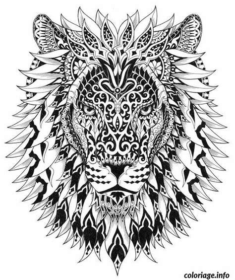 hard lion coloring pages coloriage difficile adulte lion jecolorie com