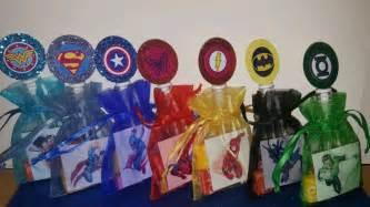 12 dc marvel super hero birthday party favor bag sticker