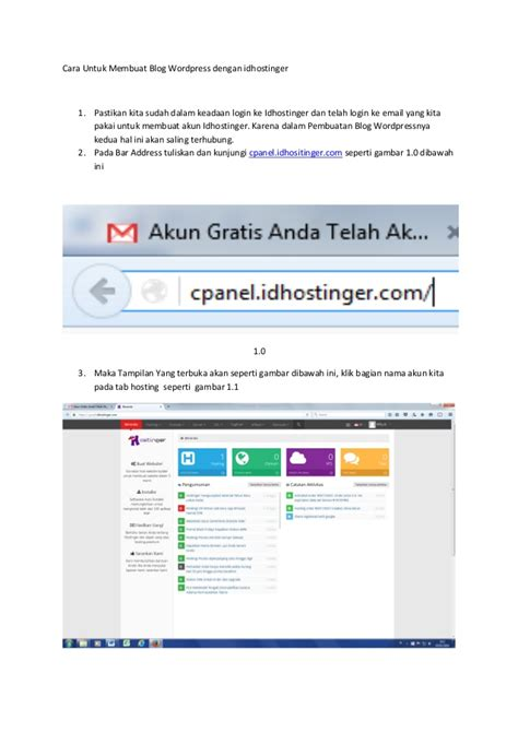 cara membuat blog untuk perniagaan cara untuk membuat blog wordpress dengan idhostinger