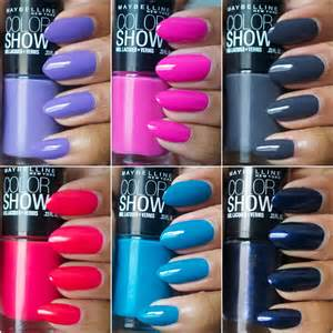 color show maybelline color show nail polishes the style rundown