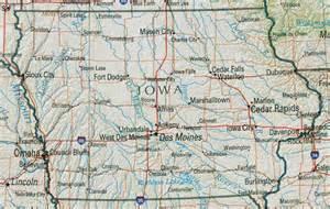 map us iowa iowa reference map