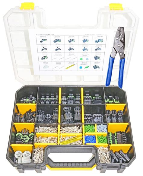 connector kit weather pack connector kit wp 1104 with crimp tool ebay