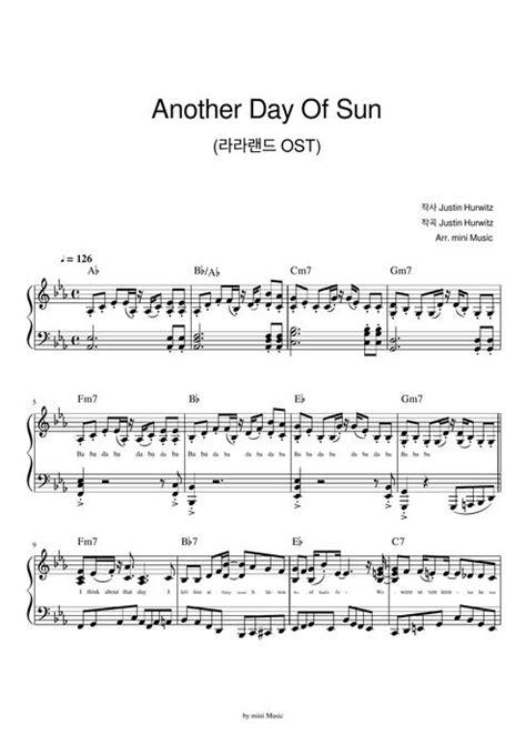 악보 게시판 > 라라랜드 OST - Another Day Of Sun (오리지널 Eb키 full버전