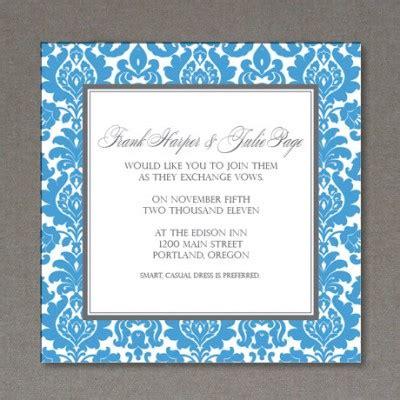 Rococo Wedding Invitation Set Download Print Square Wedding Invitation Template