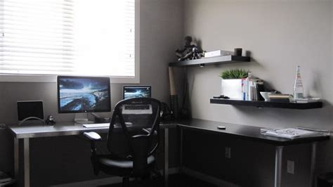 Wall Desks Home Office L Shaped Desk Ikea Home Office Modern With Of And Contemporary Desks Images Furniture Gray Wall
