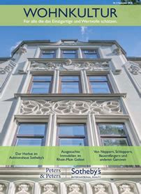 wohnkultur magazin peters peters sotheby s international realty