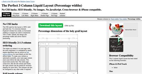 liquid layout template 35 awesome fluid and elastic layout exles templates