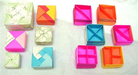 Origami Box With Divider - more origami boxes dividers by wombat1138 on deviantart