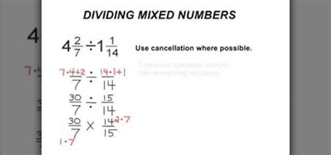how to divide mixed numbers in basic arithmetic 171 math