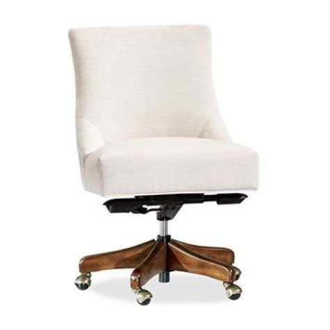 non swivel office chair non tufted swivel desk chair from pottery barn new house