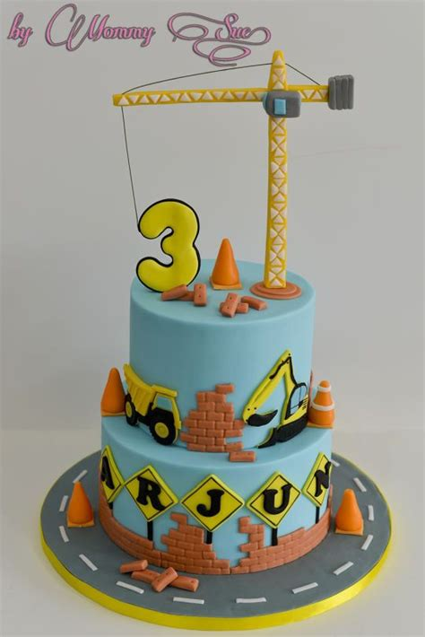 themed birthday cakes alberton construction themed cake hayes b day ideas pinterest