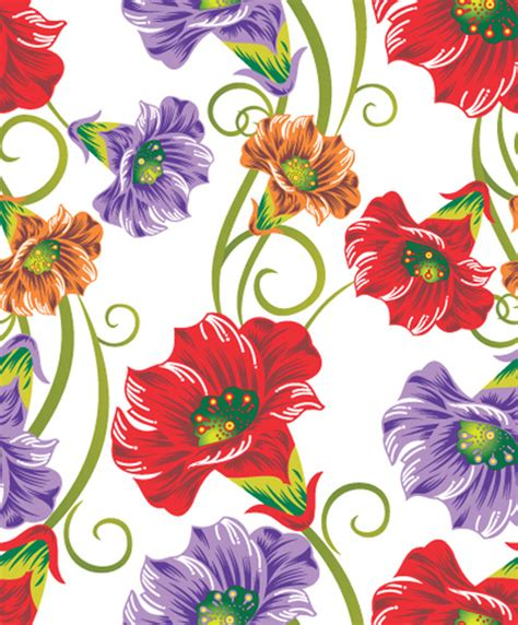 design pattern used in spring vector set of spring flowers pattern free vector in