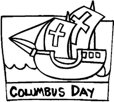 coloring pages columbus day printable columbus day ships coloring pages family holiday net