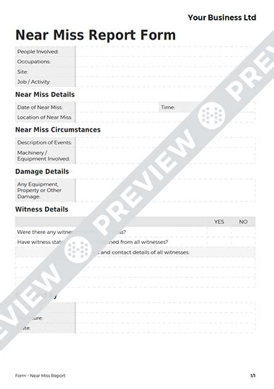 near miss reporting form template near miss report form free template haspod