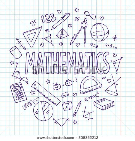 doodle your math book vector school set mathematics can be used for