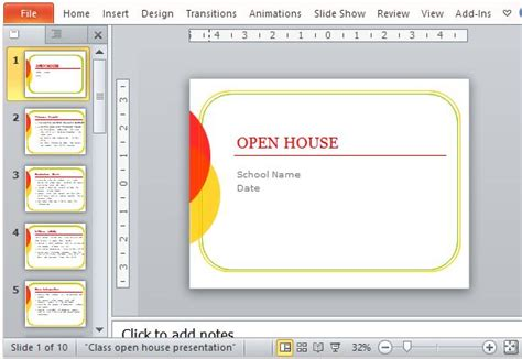 classroom open house powerpoint template powerpoint