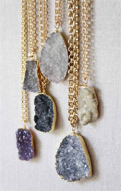 The Necklace Of Stones by Druzy Necklace Closet