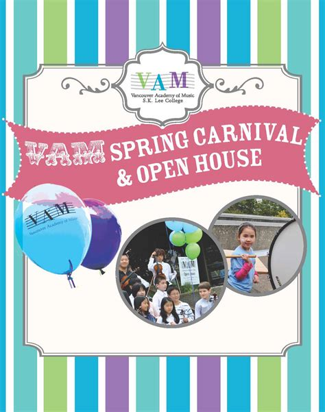 house music vancouver vam spring carnival open house vancouver academy of music