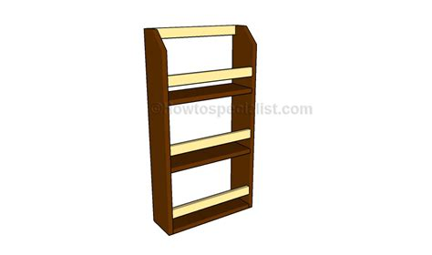 Rack Plans magazine rack plans howtospecialist how to build step