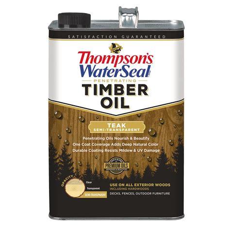 thompsons waterseal  gal semi transparent teak