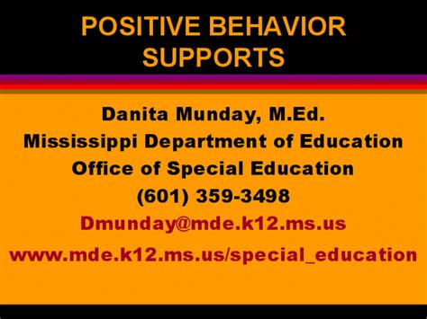 Http Www Mde K12 Ms Us Mba by Positive Behavior Supports Docslide