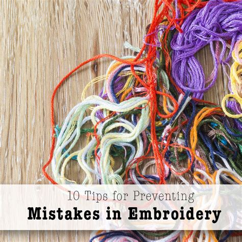 machine embroidery for beginners a free guide craftsy 10 embroidery mistakes to avoid