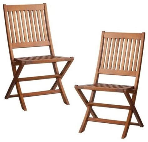Outdoor Wood Folding Chairs smith hawken 2 wood folding patio chair set contemporary outdoor folding chairs by