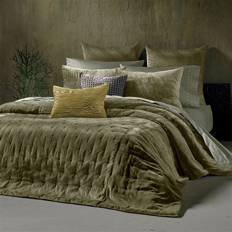 velvet coverlet kevin o brien cirrus olive coverlet from beddingstyle com