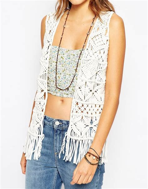 effortlesslyfly com kicks x clothes x photos x fly sh t image 3 of pepe jeans fringe crochet knit waistcoat