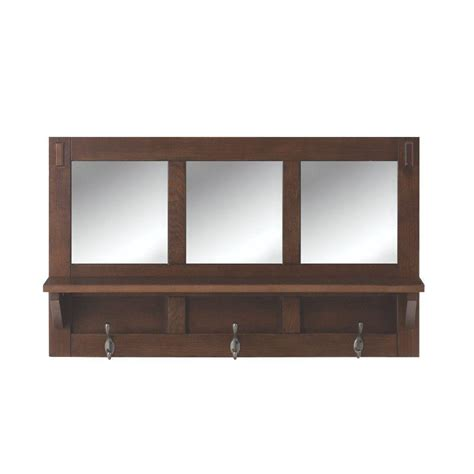 bookcase with mirror home decorators collection artisan 18 in h 3 hook mdf