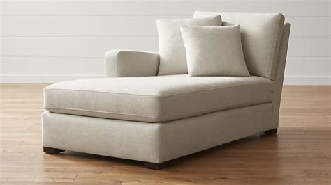 left arm chaise lounge verano left arm chaise lounge crate and barrel