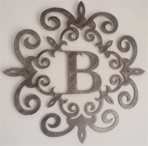 wall letters for bedrooms family initial monogram inside a metal scroll with b letter 12 inches wall decor