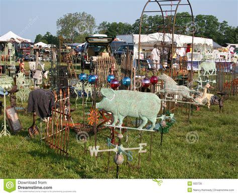 outdoor flea market stock image image of antiques