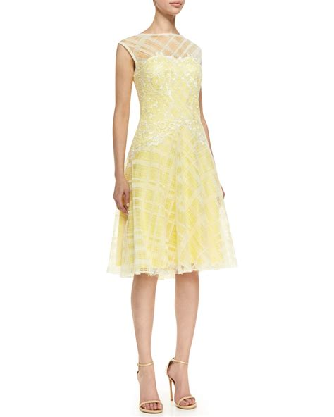 Embroidered Cocktail Dress tadashi shoji sleeveless embroidered bodice cocktail dress