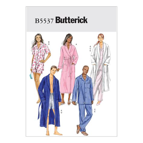 kimono pattern butterick butterick misses mens robe belt shorts and pants sewing