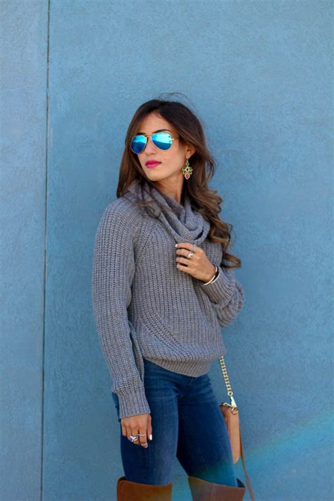 So Sweat Cowl Grey grey cowl neck sweater