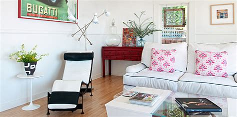 marvelous Hanging Chair Living Room #5: Bright-eclectic-living-room.jpg